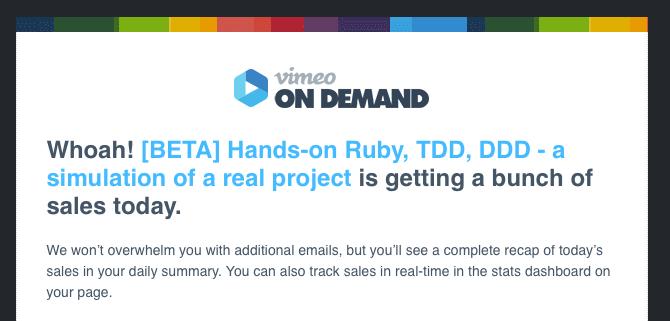 70% off the Rails / TDD / DDD / mutant video class until 11pm 19.05.2016 CEST